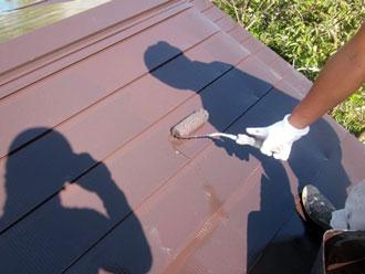 香取郡神崎町 屋根 上塗り 弱溶剤シリコン