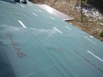 いすみ市 屋根リフォーム カバー工事 防水紙新設