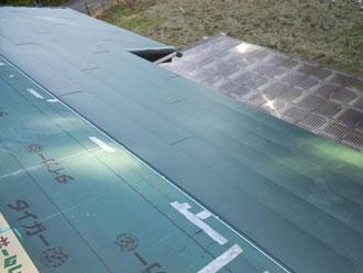 いすみ市 屋根リフォーム カバー工事 屋根材新設 横暖ルーフきわみ ガルバリウム鋼板