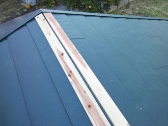 いすみ市 屋根カバー工事 新規貫板設置