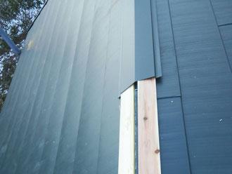 いすみ市 屋根カバー工事 棟板金設置