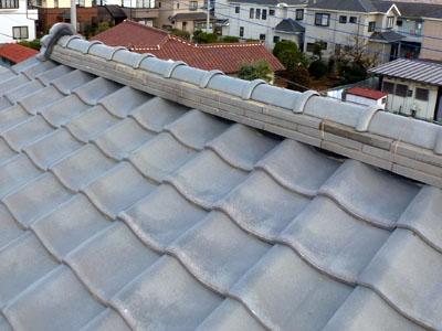 佐倉市 屋根 棟瓦取り直し 漆喰詰め直し 完工