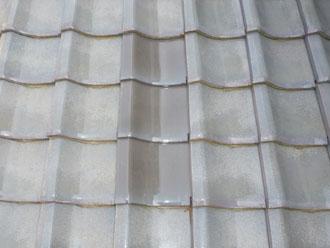佐倉市 屋根 棟瓦取り直し 漆喰詰め直し 割れた瓦を新しい瓦に交換