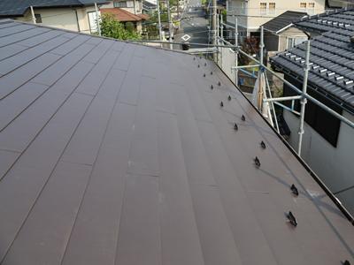千葉県佐倉市 屋根カバー工法 室内塗装 完工後の屋根