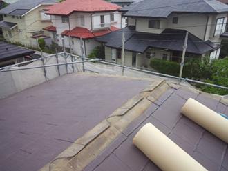 千葉県佐倉市 屋根カバー工法 室内塗装 雪止めも撤去