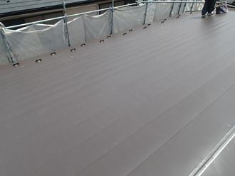 千葉県佐倉市 屋根カバー工法 室内塗装 横暖ルーフきわみ設置完了