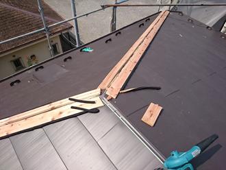 千葉県佐倉市 屋根カバー工法 室内塗装 貫板設置