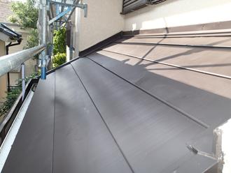 千葉県佐倉市 屋根カバー工法 室内塗装 1階屋根カバー工法 完成