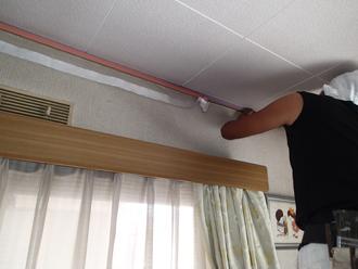 千葉県佐倉市 屋根カバー工法 室内塗装 養生