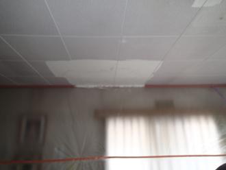 千葉県佐倉市 屋根カバー工法 室内塗装 雨染みに塗装