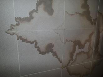 千葉県佐倉市 屋根カバー工法 室内塗装 点検 室内 天井の雨染み