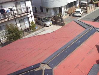 千葉県 千葉市中央区 棟板金交換 プラスチック樹脂製の貫板の設置