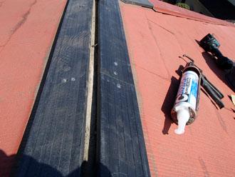 千葉県 千葉市中央区 棟板金交換 貫板はプラスチック製