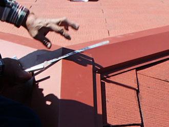 千葉県 千葉市中央区 棟板金交換 板金の加工前にサイズを計測