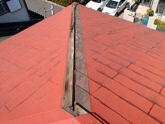千葉県 千葉市中央区 棟板金交換 屋根の点検 消失した板金