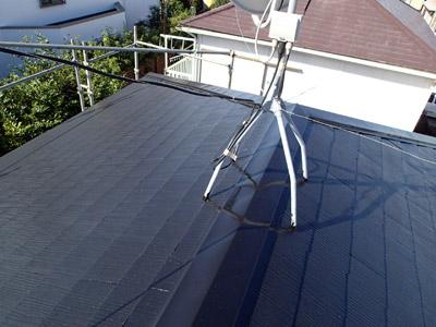 千葉市稲毛区 棟板金交換 屋根塗装 外壁塗装 塗装後の屋根
