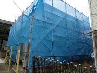 千葉市稲毛区 棟板金交換 屋根塗装 外壁塗装 足場の架設