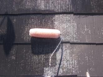 千葉市稲毛区 棟板金交換 屋根塗装 外壁塗装 屋根塗装の下塗り