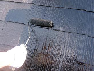 千葉市稲毛区 棟板金交換 屋根塗装 外壁塗装 屋根塗装の中塗り