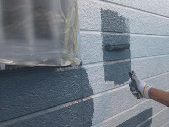 千葉市稲毛区 棟板金交換 屋根塗装 外壁塗装 中塗り