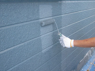 千葉市稲毛区 棟板金交換 屋根塗装 外壁塗装 上塗り