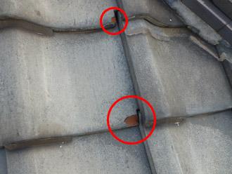 千葉市花見川区 雨漏り 屋根の点検 瓦の欠け