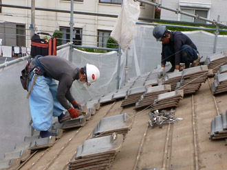 千葉市花見川区 従来の屋根の撤去 瓦の撤去方法
