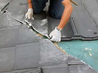 千葉市花見川区 屋根葺き替え ROOGA雅 棟部分の加工