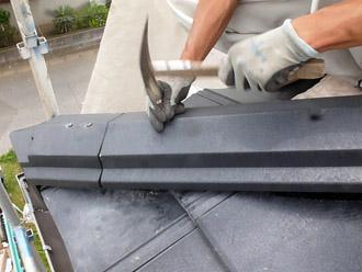千葉市花見川区 屋根葺き替え 棟を設置 ROOGA雅