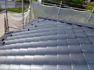 千葉市花見川区 屋根葺き替え ROOGA雅は軽量コンクリート製で軽くて強い