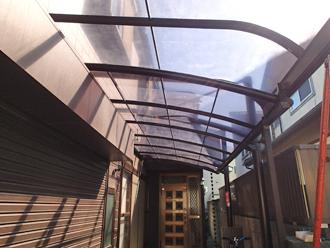 千葉県千葉市花見川区 カーポート補修後 下からのショット