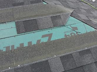 千葉県千葉市花見川区 屋根葺き替え 加工したシングル材