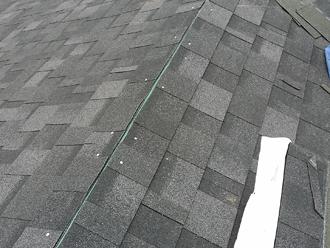 千葉県千葉市花見川区 屋根葺き替え 棟部分