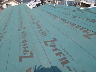 千葉県千葉市花見川区 屋根葺き替え 防水紙設置