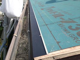 千葉県千葉市花見川区 屋根葺き替え 水切り役物設置
