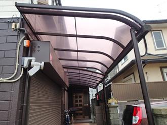 千葉県千葉市花見川区 屋根葺き替え カーポートの点検