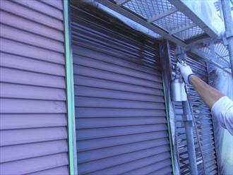 印旛郡酒々井町 雨戸塗装