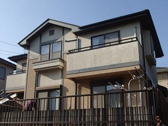 千葉県印旛郡酒々井町 屋根塗装 外壁塗装 点検の様子 カラーシミュレーション 元の写真