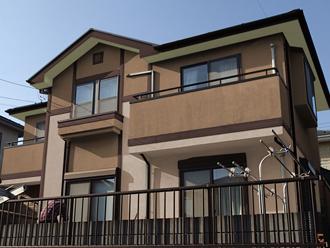 千葉県印旛郡酒々井町 屋根塗装 外壁塗装 カラーシュミレーション ブラウン系