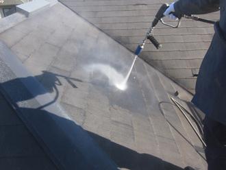 千葉県印旛郡酒々井町 屋根塗装 外壁塗装 塗装の様子 屋根 高圧洗浄