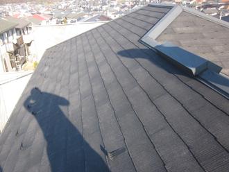 千葉県印旛郡酒々井町 屋根塗装 外壁塗装 塗装の様子 屋根 洗浄後