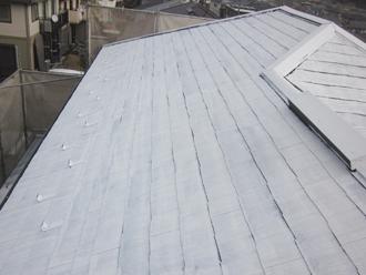千葉県印旛郡酒々井町 屋根塗装 外壁塗装 点検の様子 シーラー後