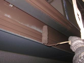 千葉県印旛郡酒々井町 屋根塗装 外壁塗装 塗装の様子 細部の塗装 破風板