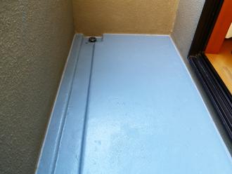 千葉県印旛郡酒々井町 屋根塗装 外壁塗装 点検の様子 バルコニー 防水工事完了後