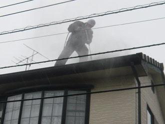 君津市 屋根高圧洗浄