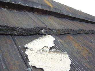 君津市 屋根点検 漆喰劣化