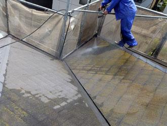 千葉県 君津市 屋根塗装 外壁塗装 屋根の高圧洗浄