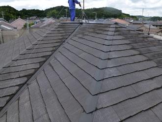 千葉県 君津市 屋根塗装 外壁塗装 屋根の高圧洗浄 色褪せ