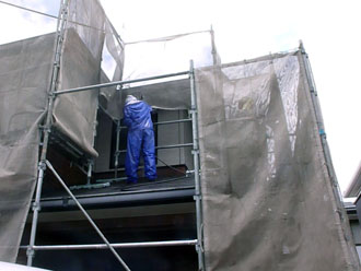 千葉県 君津市 屋根塗装 外壁塗装 外壁の高圧洗浄