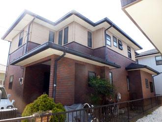 千葉県 君津市 屋根塗装 外壁塗装 カラーシミュレーション 薄い茶色バージョン